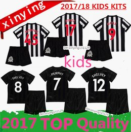 Wholesale White Gold Shirts - top quality 17 18 Home Away third Newcastle United kids soccer jerseys 2017 2018 kitS GAYLE MITROVIC Perez RITCHIE child set football shirt