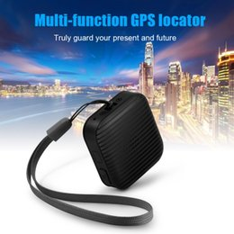 Wholesale Personal Anti Lost Alarm - A18 Portable Mini GPS Tracker Personal Anti-Lost Tracking for Kids Pet Dog Cat elder Car Vehicle with free app SOS Alarm GPS+LBS Ann