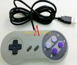 Joypad usb online-30pcs / lot al por mayor de la venta al por mayor del USB del USB del joystick del USB Gamepad Joypad del regulador estupendo excelente de SF SNES Windows