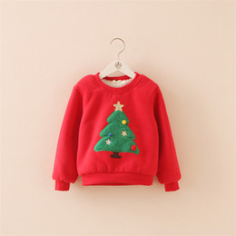Wholesale Fleece Christmas Jacket - Wholesale- Selling Retail ! Winter In Autumn Of 2016 The New Add Wool Warm The Christmas Tree Fleece Of The Girls Jacket Free Postage