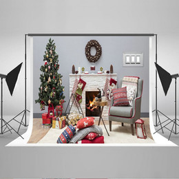 Wholesale Christmas Backdrops For Photography - 6.5ftx5ft Christmas Photography Backdrops for Photographers Christmas Tree Photo Background Cotton Digital Printed Backgrounds HJ02547