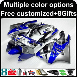Wholesale 95 9r Ninja Fairing - 23colors+8Gifts Aftermarket motorcycle cover ABS Fairing For Kawasaki ZX-9R 1994-1997 ZX9R 94 95 96 97 blue silver Motorcycle Body Kit
