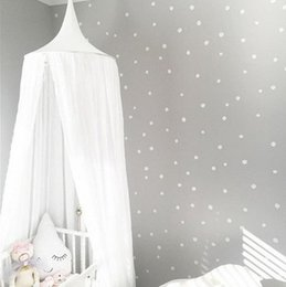 Wholesale Dome Mosquito Nets - Nordic Style Dome Mosquito Nets Curtain For Bedding Set Princess Bed Valance Bed Netting Kids Room Decor Ins photography props T0281