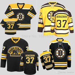Wholesale Best Sewing - #37 Authentic Patrice Bergeron Jersey Boston Bruins Black White Yellow Finals Best NWT Sewing All Size Bruins Jersey For Fans