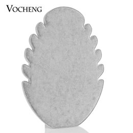 Wholesale Jewelry Display Gray Velvet - Velvet Flame Shape Jewelry stander Display for Necklaces VOCHENG Black&Gray color NN-428