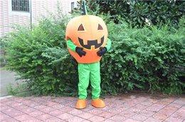 Wholesale Costume Halloween Mascotte - 2016 Halloween Pumpkin Man Mascot Costume Adult Size Custom Mascotte Costumes