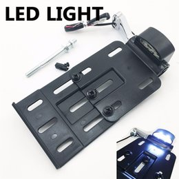 Wholesale Motorcycle License Plate Mounts - Motorcycle accessories 04 UP LED Light Side Mount License Plate for Harley Sportster 883 1200 48
