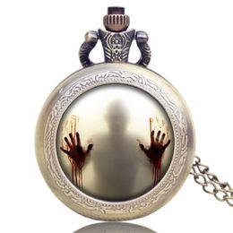 Wholesale Design Mens Watches - Wholesale-The Walking Dead Design Pocket Watch Quartz Analog Movement Women Mens Gifts P1188