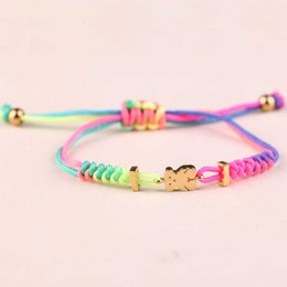 Wholesale Colorful Gold Plated Bangles - Tous Bear Spain Jewelry Stainless Steel Bangle Dropshipping Service Hight Quality High Profit Hot Selling Hand Knitted Bangle Colorful 2017