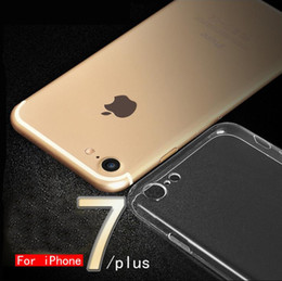Wholesale Wholesale Jackets Soft Shell - Protective shell For Iphone 7 Iphone 7Plus Thin Transparent Soft Silicone Protective Shell Jacket Scratch-resistant Damping