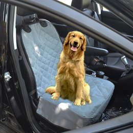 Wholesale Seat Cover For Pets Wholesale - Front Seat Wear Waterproof Non-slip Mats Human Pet Dual Collapsible Dog Seat Cover For Cars 2 Color Options