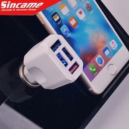 Wholesale Brand Fuse - 4 Port USB Universal Smart Fuse Circuit-Breaker Protection 5V 4.1A Max Car Charger For Iphone5 6Plus Samsung All Mobile Phone