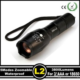 Wholesale Led Torch Tactical Usa - USA EU Top Selling Style E17 CREE XML L2 5000LM Aluminum Zoomable cree led flashlight Torch lamplight for AAA or 1x18650 battery