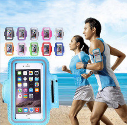 Wholesale Neoprene Belt Band - Waterproof Sport Arm Band Case For Samsung Galaxy S3 S4 S5 S6 Edge S7 Arm Phone Bag Running Accessory Band Gym Pounch Belt Cover