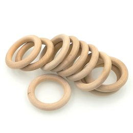 Wholesale Wholesaler Wooden Jewelry Accessories - DIY eco-friendly Wooden Ring 50mm accessory for Jewelry, Teethers,nursing toy 1.9 inch 20pcs WC020