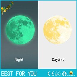 Wholesale Moon Sticker Glow Wall - Luminous Night Moon Wall Sticker Glow in the Dark Great Gift and wall stickers for kids rooms for kids rooms or poster new hot