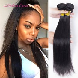 Wholesale Modern Beauty - 7A Cheapest Mongolian Straight Hair Extensions 2 Bundles Mongolian Straight Human Hair Unprocessed Weaves Modern Queen Beauty Hair Products