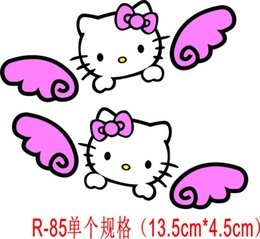 Wholesale Ear Stickers - Hello Kitty sticker cute girl mirrors ear to mirror pink paragraph 2 03MKS
