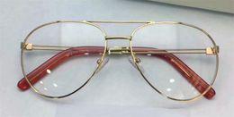 Wholesale Solid Plastic Frame - New fashion optical glasses metal pilots frames transparent lenses avant-garde design style top quality eye glasses CL 2128