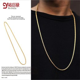 Wholesale Bling Long Necklaces - 2016 New Hip Hop Famous Star 18k Gold Plated Rock Popular Fashion Golden Long Rope Chain Bling Bling Chains 29.5in