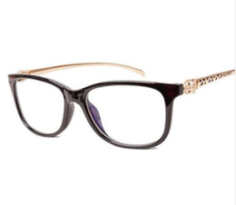 Wholesale Optics Glasses - Vintage Leopard Optic Clear Eyeglasses Frame Brand Designer Women Eyewear Decoration Reading Glasses Plain Mirror Spectacle Frame 720
