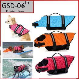 Wholesale Dog Life Saver - Pet Dog Save Life Jacket Safety Clothes Life Vest Outward Saver Pet Dog Swimming Preserver Large Dog Clothes Summer Swimwear F733