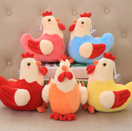 Wholesale toy flower bouquet - 20cm Chicken Plush Toys MIX Colors Little Stuffed Chicken TOY DOLL Plush Gift Sucker Pendant TOY Wedding Bouquet Flower Plush Toy DOLL YH251