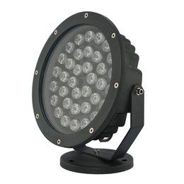 projecteur jaune Promotion Type rond lumière d'inondation de la puissance élevée LED remplie de colle à l'intérieur de l'entrée IP100 imperméable d'AC100-245V avec la surface de processus de revêtement de poudre