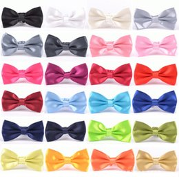 Wholesale Commercial Ties - New Arrival Commercial Bow Tie Male Solid Color Formal Business Marriage BowTies Men Candy Color Butterfly Cravat Bow ties Butterflies