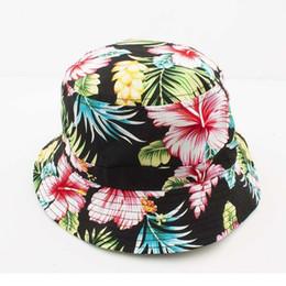 Wholesale Hip Bucket - Cotton Summer Bucket Hat 2016 new fashion women Outdoor Fishing Sun Hat Floral Fisherman Panama Cap Bob Chapeau Men Hip Hop