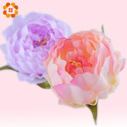 Vente en gros-5 pcs tête de pivoine décorative artificielle simulation tête de fleur de soie DIY pour la décoration de fête de mariage à la maison de haute qualité fleurs ? partir de fabricateur