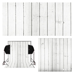 Wholesale white vinyl backdrops - Cream white vintage woods photo background for baby newborn studio props camera fotografica digital cloth vinyl photography backdrops