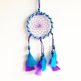 Wholesale Plaited Leather - New Arrival Handmade Feather Dream Catcher Car Home Hanging Best Gift Decoartions for Houses Parties