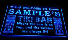 Wholesale Christmas Party Names - LS584-b Name Personalized Custom Tiki Bar Beer Neon Light Sign