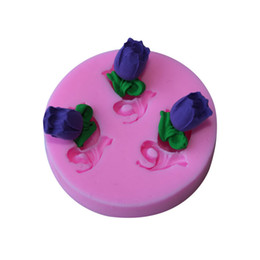 Wholesale Silicone Molds Fondant Flowers - new 2015 threee Arylic Resin Flowers silicone mold,fondant molds,sugarcraft tools,chocolate mould cake decorating tools TY1787