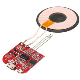 Wholesale Diy Micro Usb - Wholesale-New Arrival Qi Wireless Charger PCBA Circuit Board Coil Wireless Charging Micro USB Port DIY UQIP25 Charging Accessories 32X31mm