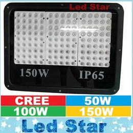 Wholesale led flood lights bulbs - Outdoor Lighting Waterproof IP65 50W 100W 150W Led Floodlights SMD 3535 Led Spot Bulb Flood Lights 60 Angle AC 110-240V