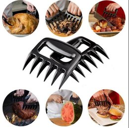 Wholesale Meat Accessories - Bear Paws Claws Meat Handler Fork Tongs Pull Shred Pork Lift Toss BBQ Shredder BBQ Grilling Accessories Bear Claws KKA1832