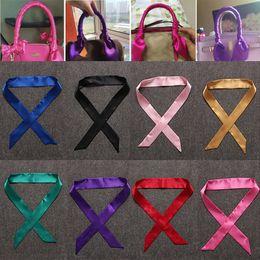 Wholesale Wholesale Silk Wrap Ribbons - 13 Color Women Scarf Printed Handbag Silk Ribbon Wraps Bandanas Bow Hair Bands Decoration In Stock WX-C72