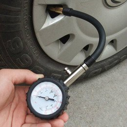 Wholesale Motor Vehicle Tyres - Wholesale-Meter Tire Pressure Gauge 0-100PSI Auto Car Bike Motor Tyre Air Pressure Gauge Meter Vehicle Tester monitoring system Dial Meter