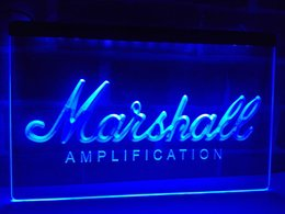 Wholesale Light Amplifier - LL168b- Marshall Guitars Bass Amplifier LED Neon Light Sign