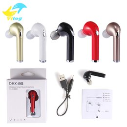 Wholesale Red Color Car - 2018 Wholesale i9s Mini Bluetooth Earphone Wireless Music Handsfree Car Driver Headset Phone Stealth Earbuds With Microphone not hbq i7