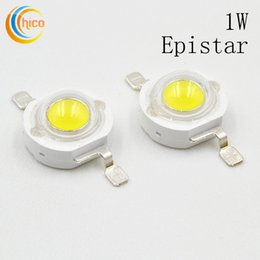 Wholesale Led Lamp Beads 1w - High Power LED Chip LED Beads 1W LED Lamp Epistar Chip Emitting Diode White Warm White Red Blue Purple Green Free Shipping