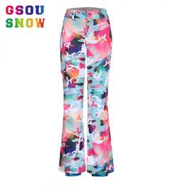 Wholesale Overall Ski - Wholesale- gsou snow snowboard pants colorful ski winter sports calca feminina pantalon femme women skiing kayak pantolonu broek overalls