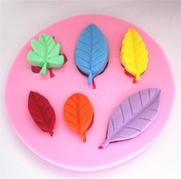 Wholesale Soap Mold Sizes - WHOLESALE silicone 3D cake moulds different size leaf fondant mold candy chocolate moules soap Molde lace decorating tools d