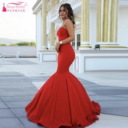 Wholesale Russia Dress - Red Mermaid Prom Dresses Elegant Charming Russia Evening Dress Sweetheart Zipper Back women Formal Dresses Party Gowns 2016