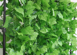 Wholesale Grape Leaves - Festive And Party Supplies 240CM 20 Leaves Christmas Garland Plants Grape Artificial Vine Leaf Fake Foliage Flowers IVY Hanging Rattan Decor