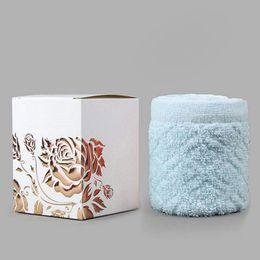 Wholesale Presents Wedding Cake - Creative Cake Towel Gift Washcloth Bath Shower Face Soft Towel Present Box Wedding Christmas Party Favor ZA4539