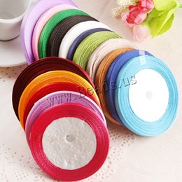 Wholesale Mix Colors Ribbon 6mm - Free shipping!!!creative jewelry mixed colors 6mm 50Strands Bag Approx 22m Strand Satin Ribbon