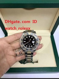 Wholesale Mens Classic Watches - Mens Classic Series Superlative GMT 116713LN 116713 Yellow Gold Wrapped Noob V2 Edition Black Dial Bracelet 2813 Sport Watches